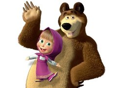 Village Masha and the bear