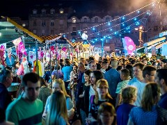 Belgrade night market in Zemun